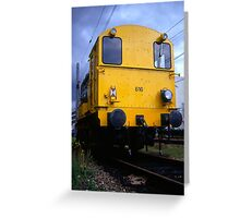 The yellow locomotive Greeting Card