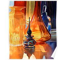 """Hide and Seek"" Art Glass Watercolor, Paul Jackson Poster"