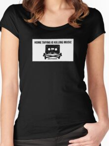 HOME TAPING IS KILLING MUSIC Women's Fitted Scoop T-Shirt