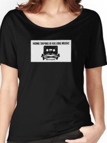 HOME TAPING IS KILLING MUSIC Women's Relaxed Fit T-Shirt