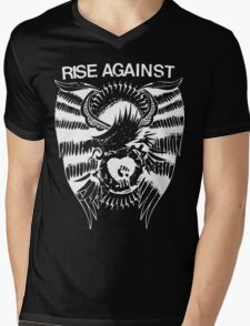 Rise Against Mens V-Neck T-Shirt