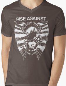 Rise Against Mens V-Neck T-Shirt