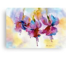 Fuchsia Watercolor II Canvas Print