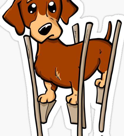 Dachshund cartoon dog Sticker