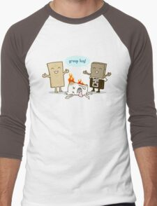 Funny S'mores - GROUP HUG! Men's Baseball ¾ T-Shirt