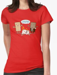 Funny S'mores - GROUP HUG! Womens Fitted T-Shirt