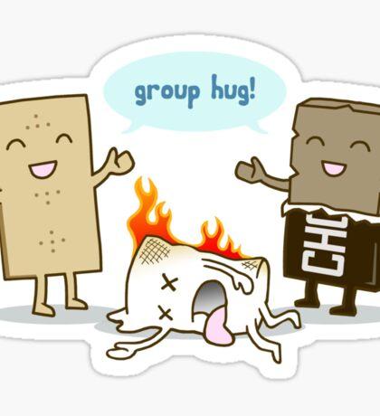 Funny S'mores - GROUP HUG! Sticker