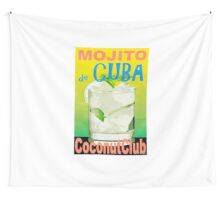 Mojito de Cuba Vintage Style Poster Wall Tapestry