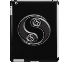 Combat, MMA, YIN YANG, Twist, Chinese, Martial Arts, symbol, on BLACK iPad Case/Skin