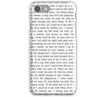 One Direction 18 Lyrics iPhone Case/Skin