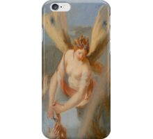 Hairdresser, Hair dressing Angel, Angel with wings, cutting hair, Church, St Petersburg Russia.  iPhone Case/Skin