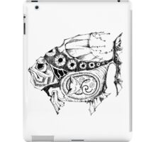 Hands painted portrait  magic fish with a kitten inside iPad Case/Skin
