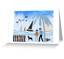 Seaside Stroll Greeting Card