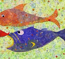 FISH PLAYING NAME THAT TUNA by Jean Gregory  Evans