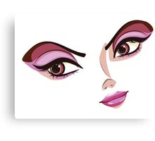 Stylized Female Face Canvas Print