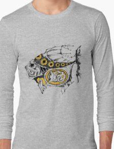 magic fish with a kitten inside Long Sleeve T-Shirt