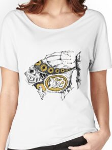 magic fish with a kitten inside Women's Relaxed Fit T-Shirt