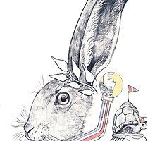 Hare and Tortoise by johnchamberlain