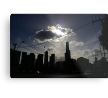 Afternoon Streetscape Metal Print