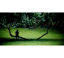 Lonely Man Photographic Print