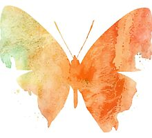 Watercolor Butterflies 4 by AnnArtshock