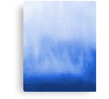 Ombre blue watercolor wash beach ocean water painting abstract sea nature inspired design Canvas Print