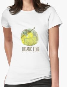 fresh useful eco-friendly apple Womens Fitted T-Shirt