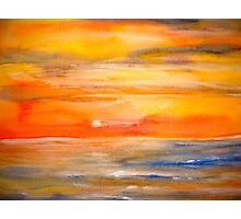 Landscape Abstract...Lake Superior Sun..reposted May 2015 Photographic Print
