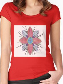 Flower Pink Women's Fitted Scoop T-Shirt