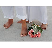 Beach Feet Photographic Print