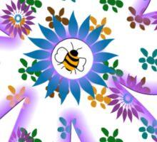Bumblebee and Flower Tee Sticker