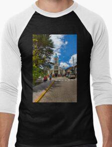 Central San Fernando - Ecuador - Watercolor Men's Baseball ¾ T-Shirt