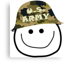 U.S. Army Smiley Canvas Print
