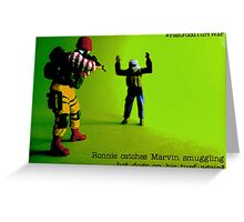 Caught you! Greeting Card