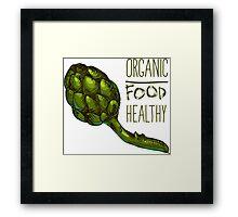 green fresh useful eco-friendly artichoke Framed Print