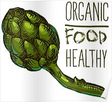 green fresh useful eco-friendly artichoke Poster