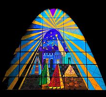 The Magi in Stained Glass - Giron Ecuador by Al Bourassa