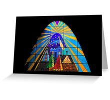 The Magi in Stained Glass - Giron Ecuador Greeting Card