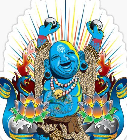 Happy Kustom Kulture Buddha Sticker
