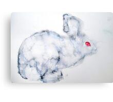 RED EYES RABBIT Canvas Print