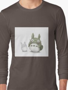 Totoro Buddies Fan Art Long Sleeve T-Shirt