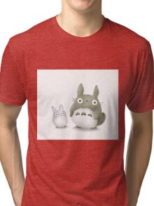 Totoro Buddies Fan Art Tri-blend T-Shirt