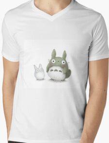 Totoro Buddies Fan Art Mens V-Neck T-Shirt