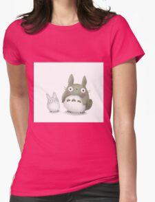 Totoro Buddies Fan Art Womens Fitted T-Shirt