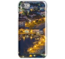Blue hour at the port iPhone Case/Skin