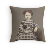 Emily in Purple Throw Pillow