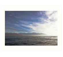 sea , Kaikoura Ranges , New Zealand   Art Print