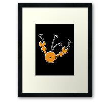Quirky Crab Framed Print
