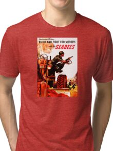BUILD FIGHT FOR VICTORY SEABEES Tri-blend T-Shirt