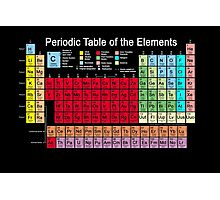 Periodic table of the Elements updated Photographic Print
